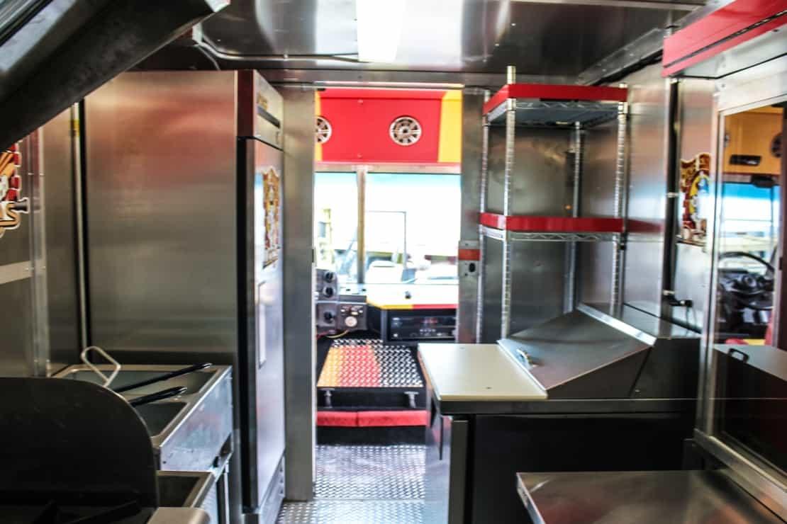 Fire Engine Dogs Custom Hot Dog Food Truck Kitchen